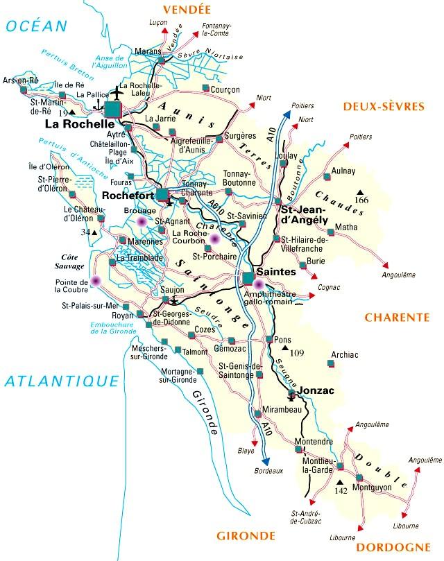carte charente maritime 17 carte departement 17 charente maritime   Au bon débarras